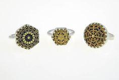 Group of vintage filigree rings set in sterling silver