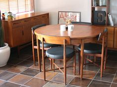 Circle Dining Table, Dining Table Chairs, Dining Room, Round Extension Table, G Plan Furniture, Ideal Home, House, Home Decor, Interiors