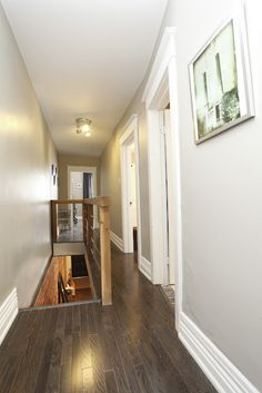upstairs hallway, renovation, cedar posts, air craft wire, hardwood floor