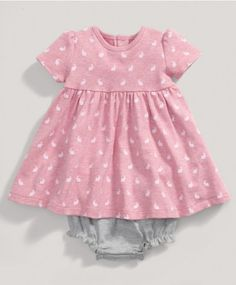 Girls Pink Bunny Dress and Knickers