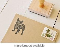 Dog Return Address Stamp - Custom Dog Breed Rubber Stamp - Personalized Pet Address Stamp - French Bulldog - More Breeds Available Gifts For Pet Lovers, Dog Gifts, Dog Lovers, Pet Id Tags, Dog Tags, Miyazaki Totoro, Art Café, Image Halloween, Wooden Dog Kennels