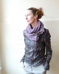 lavender scarf cowl purple scarf double wrap scarf long