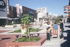 "westside-historic: ""  The Santa Monica Pedestrian mall in the 1970s. Source: http://santamonicacentric.com/third-street-promenade/ """