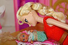Frozen Kids Anna & Kristoff Have Baby Krista & Elsa Barbie Family Parody...     Watch it.