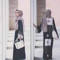 HANAA is a modest fashion brand that celebrate the Abaya and Hijab as a powerful expression of a woman's individuality. Street Hijab Fashion, Abaya Fashion, Infp, Islamic Fashion, Islamic Clothing, Hijab Outfit, Muslim Women, Maxis, Modern Fashion