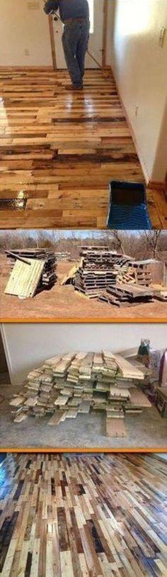 DIY Pallet Flooring!
