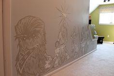 Star wars nursery mural