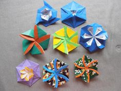 六角形のたとう折り 参考作品