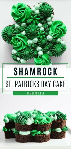 Patrick's Day Cake is definitely a crowd-pleaser! This St. Patrick's Day recipe comes together quite easily. With a chocolate cake recipe and buttercream, you get the most beautiful St. Patrick's Day dessert. Pin this for later! Desserts For A Crowd, Fancy Desserts, Food For A Crowd, Dessert Recipes, Cupcake Recipes, Dinner Recipes, St Patricks Day Cakes, St Patrick's Day Cookies, I Am Baker