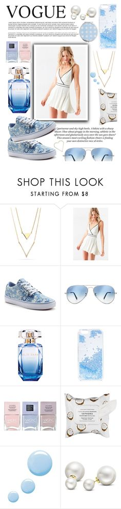 """jumpsuit blues"" by lialicious on Polyvore featuring H&M, Cooperative, Vans, Ray-Ban, Elie Saab, Skinnydip, Nails Inc., Sephora Collection, Topshop and Allurez"