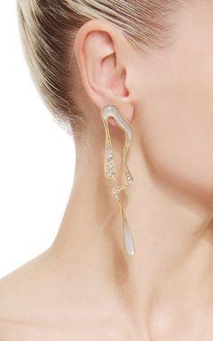 Stream Doubled Earrings in Milky Quartz by Fernando Jorge Resort 2016 - Preorder now on Moda Operandi