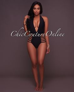Chic Couture Online - FreeSpirit Black Strappy Halter Swimsuit, (http://www.chiccoutureonline.com/freespirit-black-strappy-halter-swimsuit/)