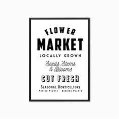 'Flower Market' Vintage Style Kitchen Print Vintage Style, Vintage Fashion, Frame Stand, Kitchen Prints, Growing Seeds, Flower Market, Kitchen Styling, Thoughtful Gifts, Scenery