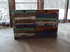 Reclaimed wood look Furniture Dresser Distressed Toy Chest  Desk Primitive Storage Unit Entertainment Center Shabby Chic TV Stand by USAcreations on Etsy https://www.etsy.com/listing/190895385/reclaimed-wood-look-furniture-dresser