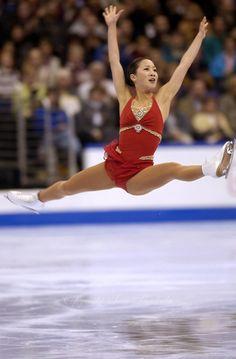 Michelle Kwan, Red Figure Skating / Ice Skating dress inspiration for Sk8 Gr8 Designs.