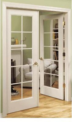 I have a thing for French Doors :)....if i had my way my house would be filled with them! lol....but I would like french doors to lead into my dining room (that will be Colonial Blue...not green...just so we're clear lol) :)