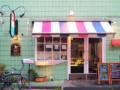 Love the mix of colours on this Tokyo shop found on Polkaros blog.