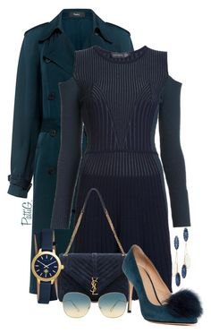 """""""THEIA"""" by patigshively ❤ liked on Polyvore featuring Theory, Versace, Yves Saint Laurent, Tory Burch, Pour La Victoire, Oliver Peoples and Theia Jewelry"""