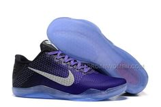 """new concept 9046a a1fca 2016 Authentic Nike Kobe 11 """"Purple"""" Black Basketball Shoes"""