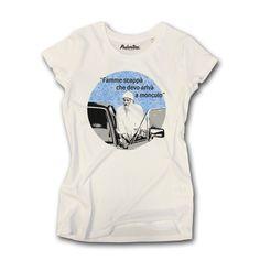 T-shirt donna 100% cotone combinato 165gr. con motivo grafico. Lavaggio a  30 gradi in lavatrice. Non asciugare in asciugatrice. 3534f281a4ff