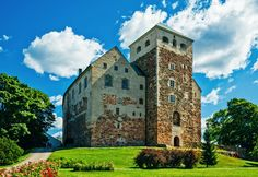 Turku is the popular tourist city in Finland. Finland tourism offer beautiful architecture, museums, beaches and much more in tour of Turku. Cities In Finland, Finland Travel, Places Around The World, Around The Worlds, Visit Helsinki, Castle Background, Tower Bridge, Travel Inspiration, Medieval