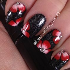 Red and Black Flowers!!