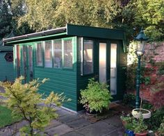 Re-using windows and build a garden shed