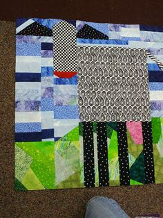 Cow quilt (not finished yet) - from Mary Lou And Whimsy Too (Mary Lou Weidman)   ...She has so many fun ideas for cow quilts:  COWnt Your Blessings, MOOdy Blues, MOOlah, UDDERly Charming, MOOvie Star, HoneyMOOners, MOOsic, COWculator, COWifornia, ChiCOWgo, COWlorado, PanaMOO Canal, MOOey Bien, Claude MOOnet, and many more..