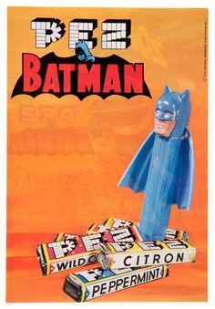 """""""BATMAN PEZ"""" RETAILER'S PROMOTIONAL SALES SHEET via Hakes Vintage Advertisements, Vintage Ads, Batman Collectibles, Batman Returns, Retro Toys, Marvel Dc Comics, Gotham, Childhood Memories, Nerdy"""