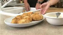 Chicken Crescent rollups with Chicken gravy.