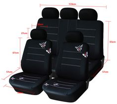 RENAULT TRAFIC SEAT COVERS 2014 ON FRONT SEATS SET2 BLACK