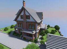 Late 1800's Brick House Minecraft Project Minecraft Modern City, Minecraft Brick, Minecraft Bridges, Minecraft House Plans, Cute Minecraft Houses, Minecraft Houses Blueprints, Minecraft House Designs, Minecraft Architecture, Minecraft Creations