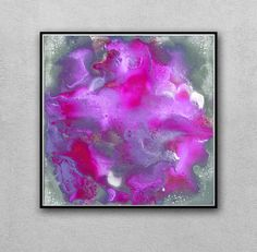 Purple And Gray Wall Art purple wall art, abstract print, purple and gold leaf print