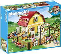 Playmobil – 5222 – Jeu de Construction – Ranch avec Poneys