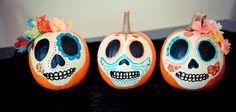wildheartwhispers: dia de los muertos pumpkins