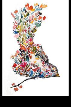 Wild flower bird