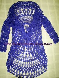 Hairpin Lace Crocheted Jacket
