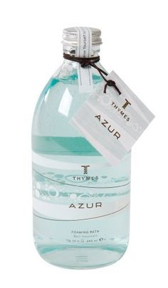 Thymes Liquid Foaming Bath, Azur, 16.75-Ounce Bottle by Thymes. $21.00. 16.75 fluid ounces Foaming Bath with Azur fragrance. Featuring Thymes exclusive Essential Phytomarine Complex of sea herbs, minerals and vitamins. Includes skin-conditioning sea kelp and glycoproteins. Thymes guarantees the safety of products without ever testing on animals. Azur fragrance has soothing white tea, water lily and sea grasses - popular with both men and women. Thymes Azur Foaming ...