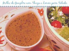 Molho de Gengibre com Shoyu e Limão para Salada