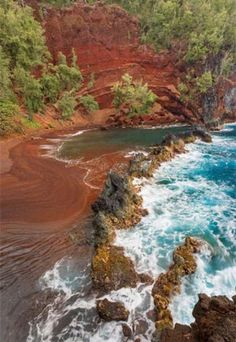 Red Sand Beach, Maui One of the most beautiful places I have ever seen.