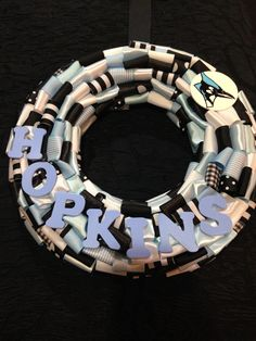 John Hopkins Blue Jays 12 inch wreath $24.99 at Passionforezra.com Johns Hopkins, Personalized Gifts, Passion, Bracelets, Blue, Color, Jewelry, Jewlery, Customized Gifts