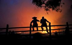 Residents watch the forest burn in Portezuelo, Chile.Chilean President Michelle Bachelet has announced that the country will continue with its various measures to deal with wild fires, one of the biggest natural disasters in the country for decades, according to a government report released on Sunday.