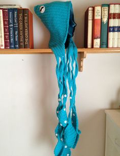 Ravelry: Project Gallery for Kraken Of The Sea Scoofie - Monster Hooded Scarf pattern by Rhea Richardson