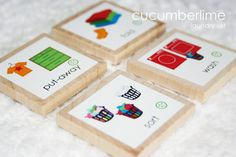 Chores--Laundry Set 4 by cucumberlime on Etsy, $3.50