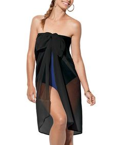 Another great find on #zulily! Sheer Sarong - Black by SPANX® by Sara Blakely #zulilyfinds