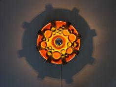 Gorgeous wall lamp West German ceramics Mid Century Modern Space Age design