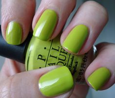 Lime Green Nail Polish Opi Did it on 'em nail polish