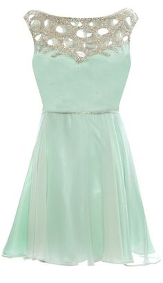 Mint coloured cocktail dress