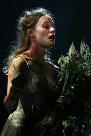 """Shakespeare's play, """"Hamlet"""", deals with extremes of human behaviour. One character, Ophelia, is driven mad by the death of her father and betrayal of her lover, Hamlet. In her madness, Ophelia talks about her father and his death and about the """"Tricks in the world""""( all the terrible things that happen to people). Her speech and her fragments of songs are only half sensible,"""