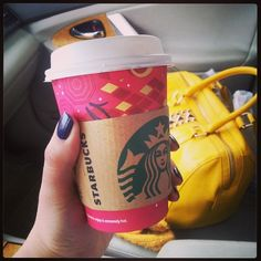 Yup! I'm kind of bragging my new #yellow @aldo_shoes #bag with my #redcup from @starbucksmiddleeast ♥ #Amman #Jordan